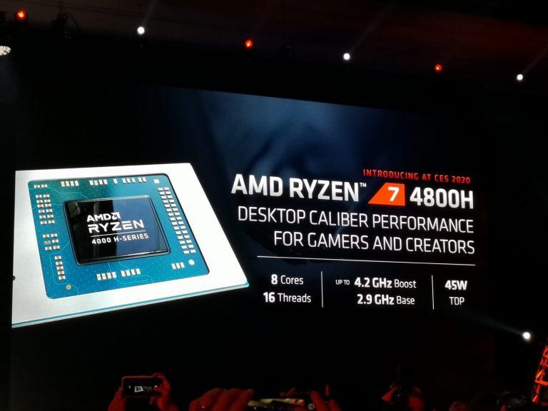 AMD presenta los procesadores Ryzen serie 4000 para computadoras portátiles