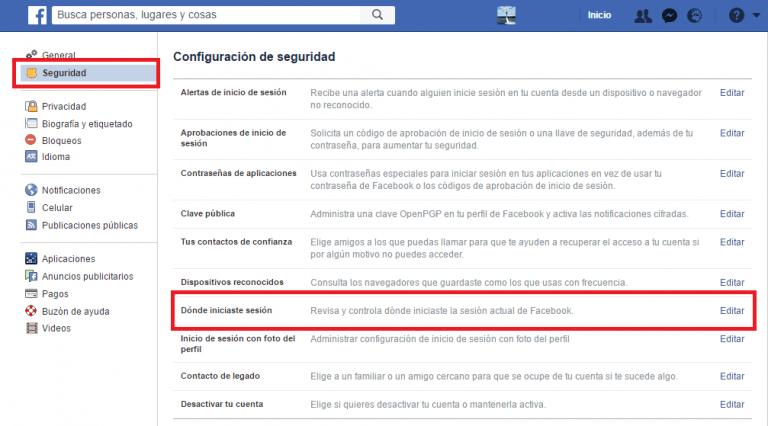 Cómo cerrar la sesión de todos los dispositivos de su cuenta de Facebook