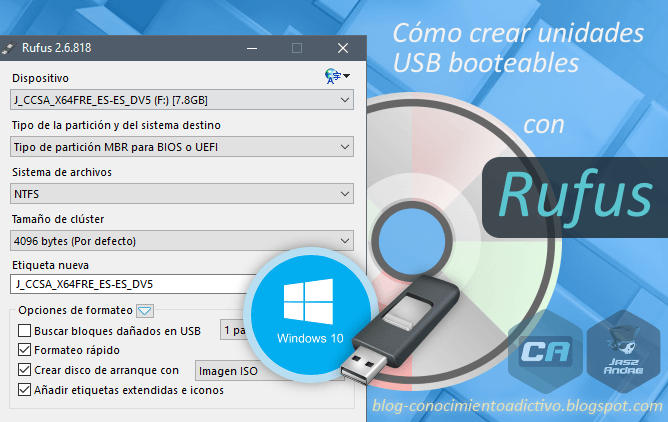 Cómo crear una imagen de una unidad USB