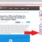 Cómo importar marcadores y extensiones de Chrome al navegador Edge