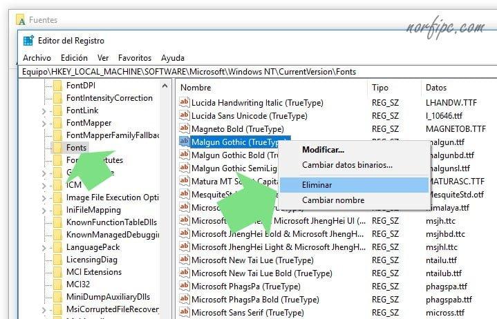 Cómo instalar y administrar fuentes en Windows 10