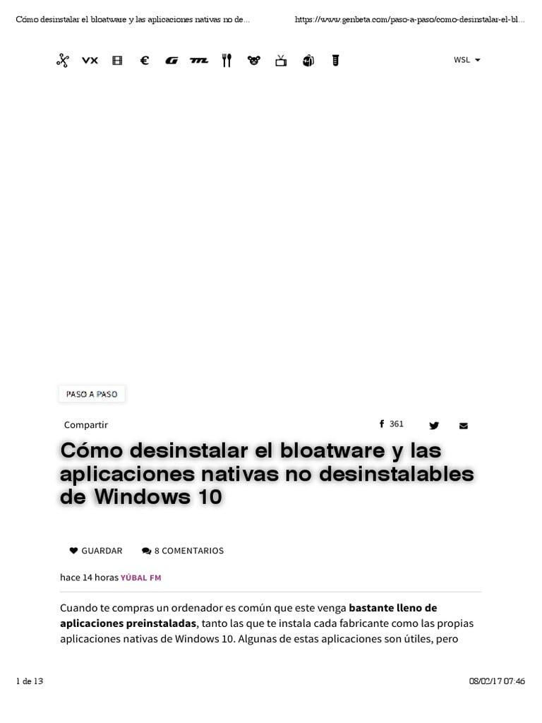 Cómo reinstalar Windows 10 sin todo el Bloatware