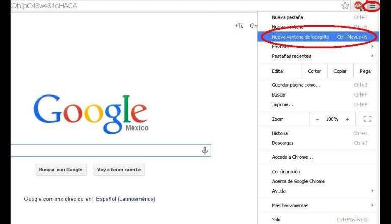 Cómo usar el modo incógnito en Chrome