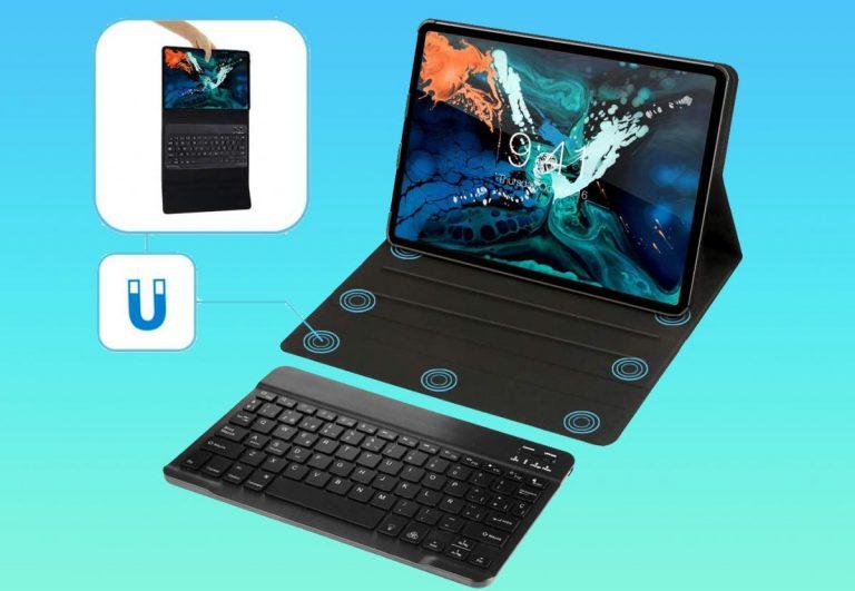 Esta funda de teclado para iPad Pro lo hace como una computadora portátil real