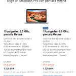 MacBook Pro de 13 pulgadas ahora cuesta € 300