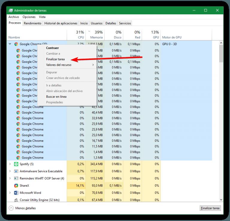 Windows 10 está congelando Chrome: qué hacer