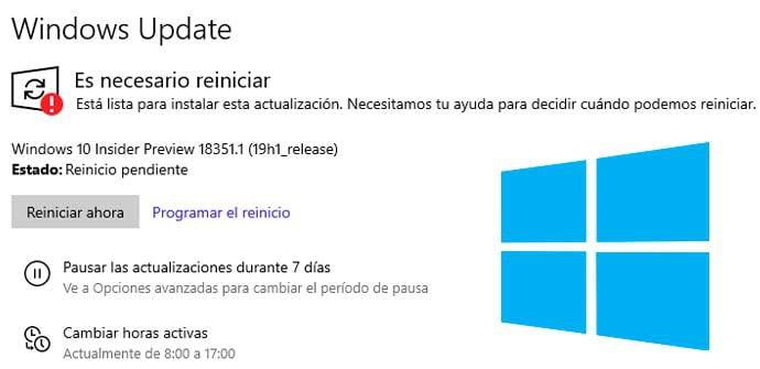 Algunos usuarios ya no pueden retrasar las actualizaciones de Windows 10