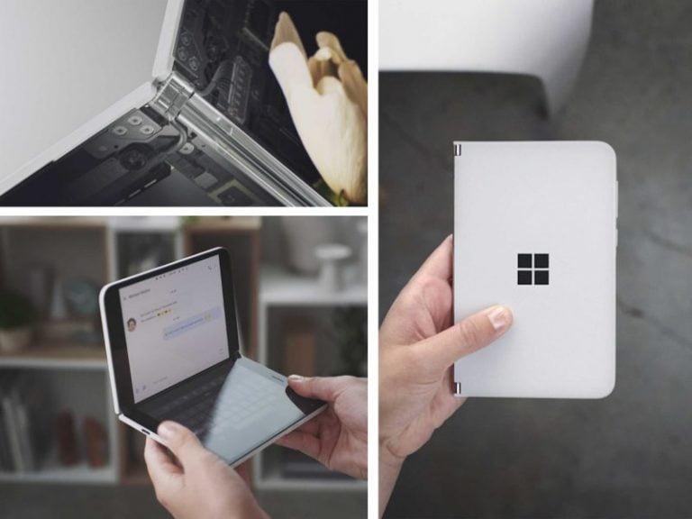El teléfono inteligente de doble pantalla Microsoft Surface Duo podría llegar el próximo mes