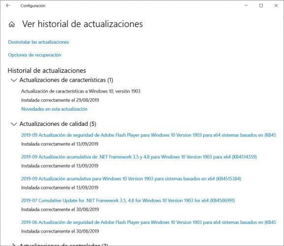 La actualización de Windows 10 podría provocar errores en los controladores: es una característica, no un error
