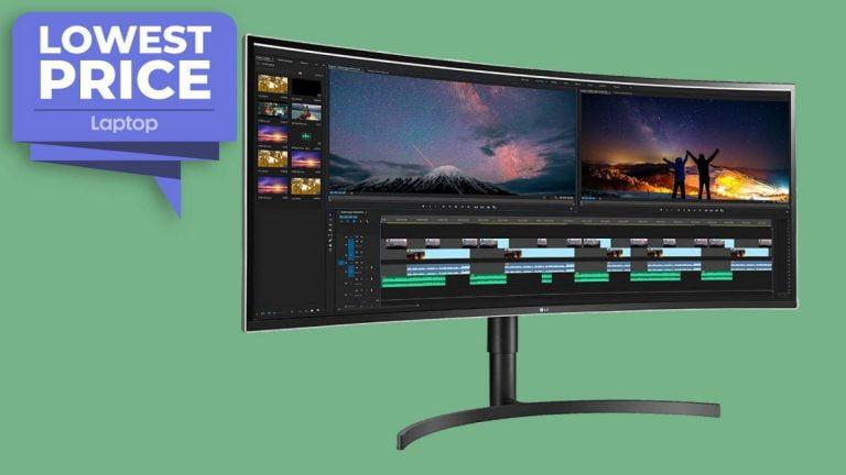 El monitor curvo UltraWide de 38 pulgadas de LG cae a un nivel bajo de € 797