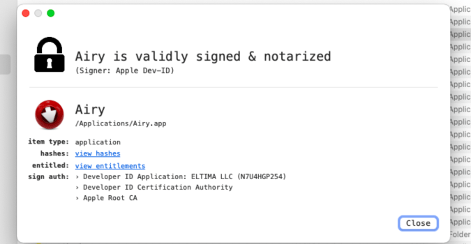 Consejos de macOS: cómo comprobar si una aplicación está firmada