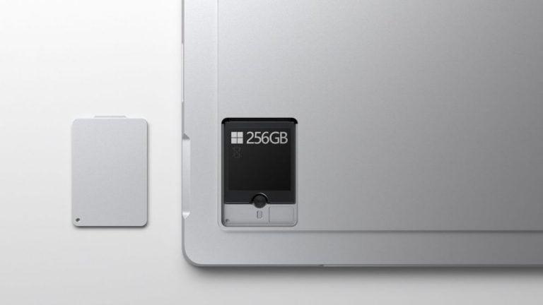 Surface Pro 7+ tiene un SSD extraíble, pero hay un problema