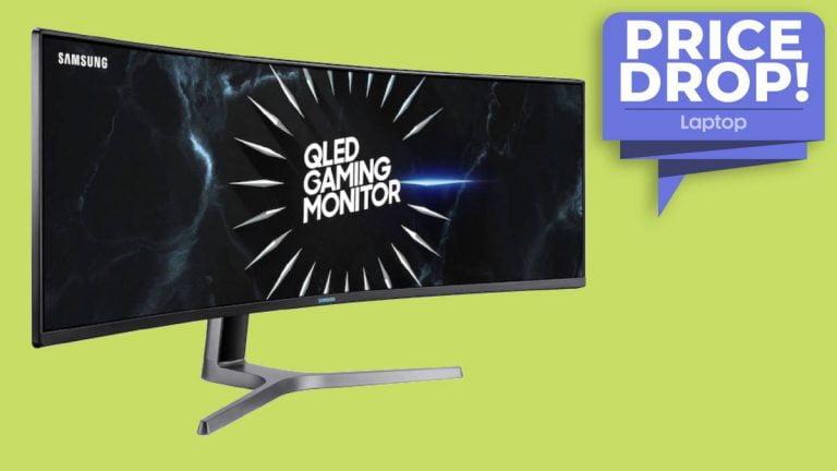 El enorme monitor de juegos QLED de 49 pulgadas de Samsung cuesta € 155 por cupón