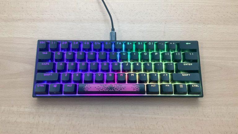 Revisión del teclado Corsair K65 RGB