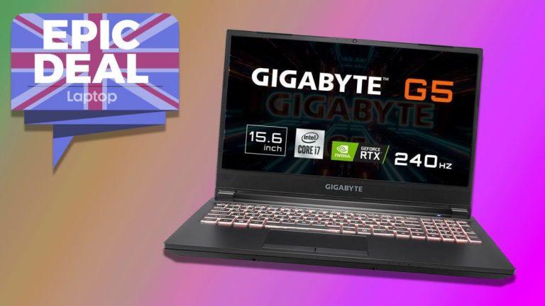 Gigabyte G5 con RTX 3060 GPU ahora tiene € 100 de descuento en la enorme oferta de portátiles para juegos