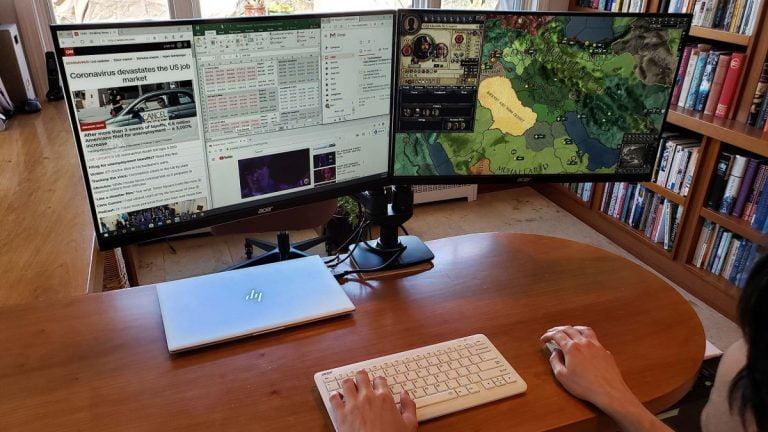 Cómo configurar monitores duales con una computadora portátil con Windows