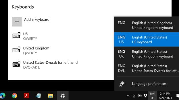 Cómo cambiar la distribución del teclado en Windows 10
