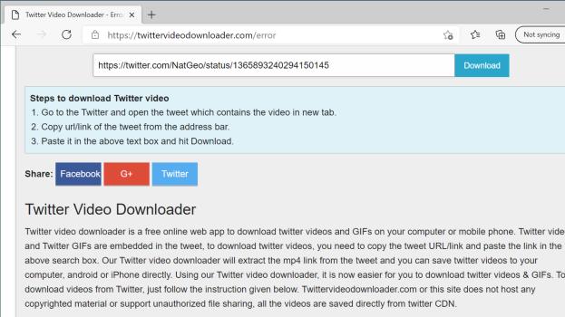 Cómo guardar GIF o video de Twitter