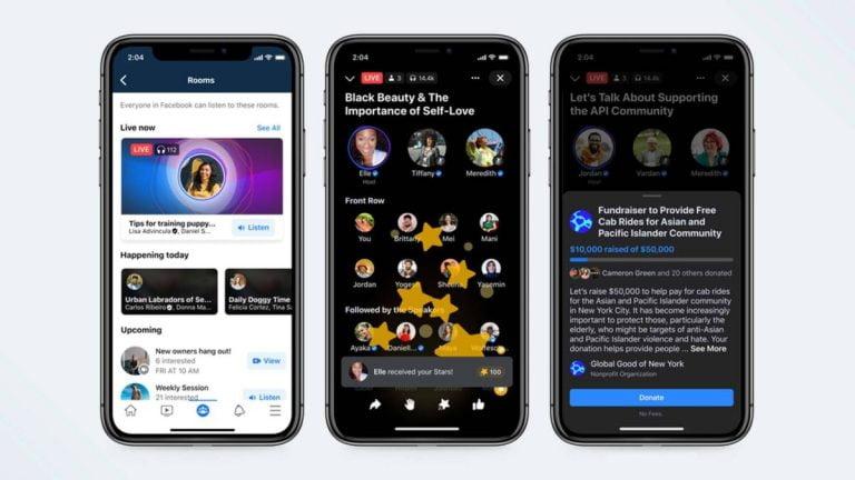 ¡Cuida la casa club!  Facebook acaba de lanzar un nuevo conjunto de aplicaciones de audio social