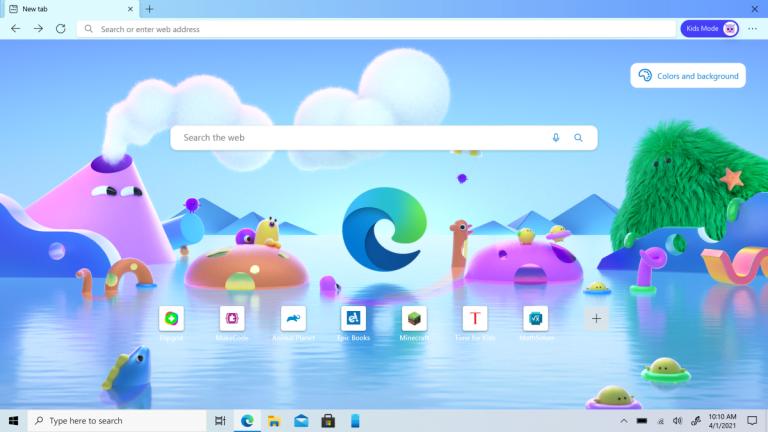 El modo Microsoft Edge Kids comienza con las estrictas restricciones de los sitios y temas de Pixar