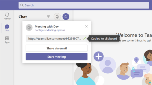 Cómo iniciar reuniones de equipo de Microsoft