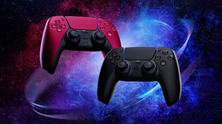 Dual5ense PS5 presentado en color rojo y negro a medida que estén disponibles