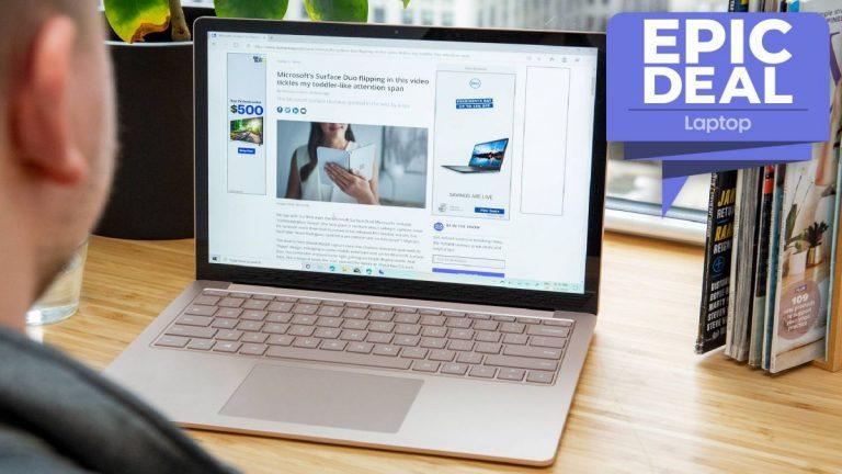 Las 3 mejores computadoras portátiles de Microsoft se reducen por poco menos de € 800