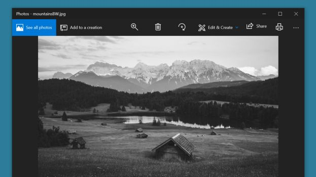 Cómo cambiar una foto de color a blanco y negro con Microsoft Photos