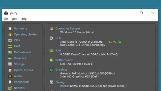 Cómo verificar la temperatura de la CPU en Windows 10