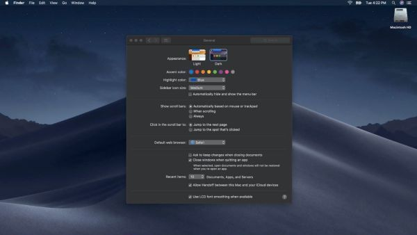 Cómo usar el modo oscuro en macOS