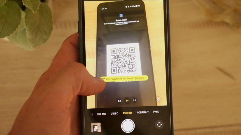 Cómo escanear un código QR en iPhone