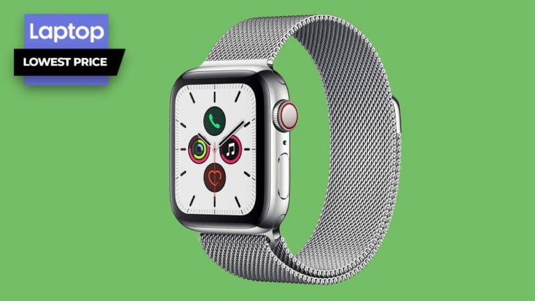 El Apple Watch Series 5 con caja de acero inoxidable de 40 mm tiene un precio de € 236