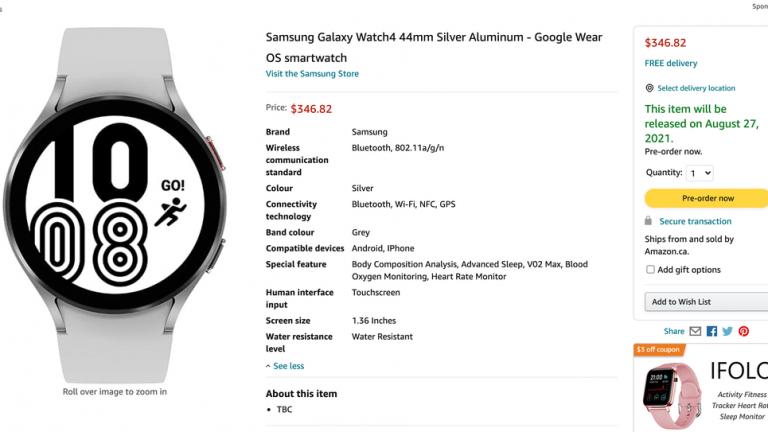 Samsung Galaxy Watch 4 llegará pronto a Amazon: se revelarán el precio, la fecha de lanzamiento y las especificaciones clave